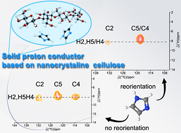 Dynamics and Proton Transport in Imidazole-Doped Nanocrystalline Cellulose Revealed by High-Resolution Solid-State Nuclear Magnetic Resonance Spectroscopy